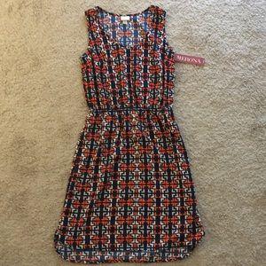 NWT Merona Blue/Orange Dress